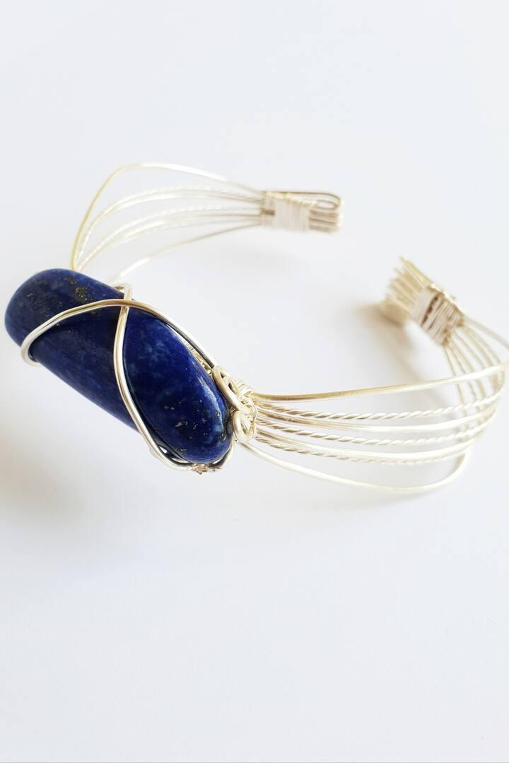 Wire Wrap lapis Lazuli