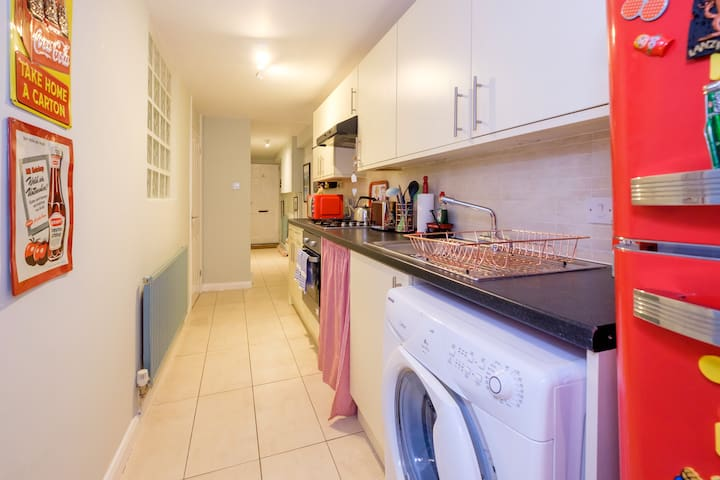 Spacious and well equipped kitchen