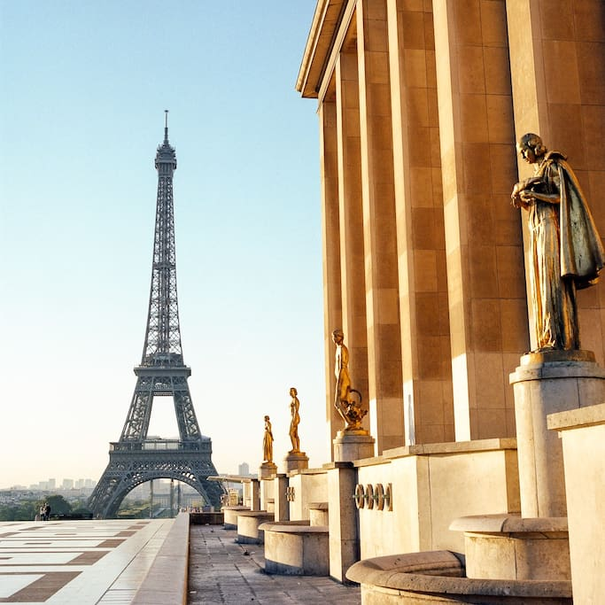 Trocadero is 5min walking