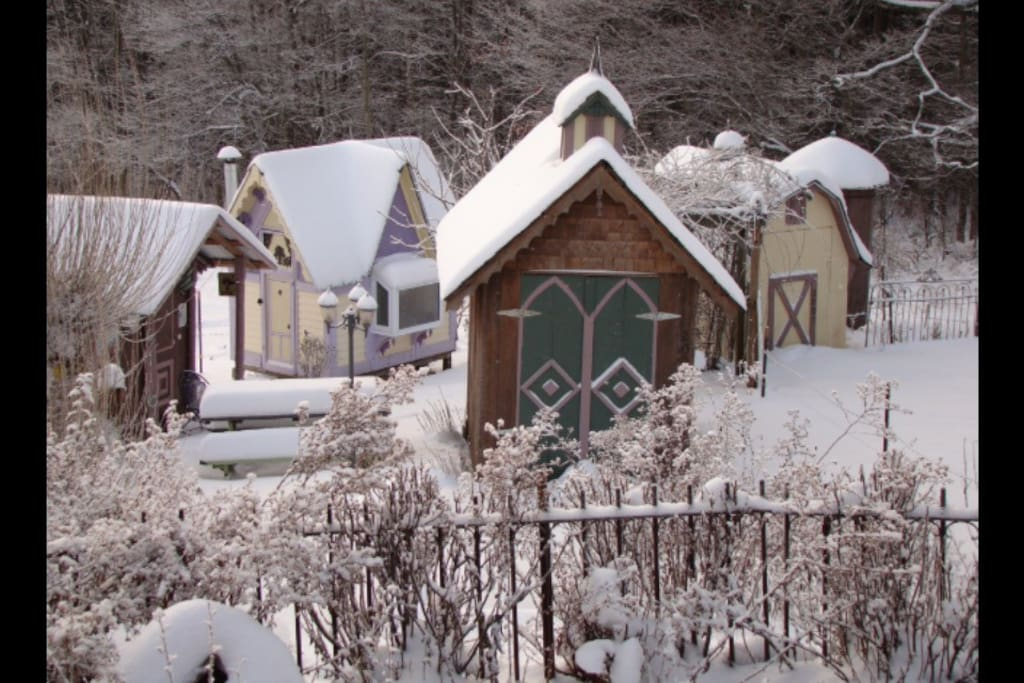 The village in winter