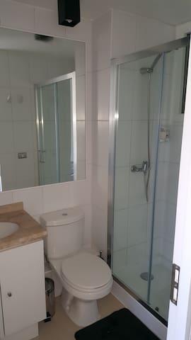 el apartamento posee 2 baños. Esta imagen corresponde  al principal en suite.