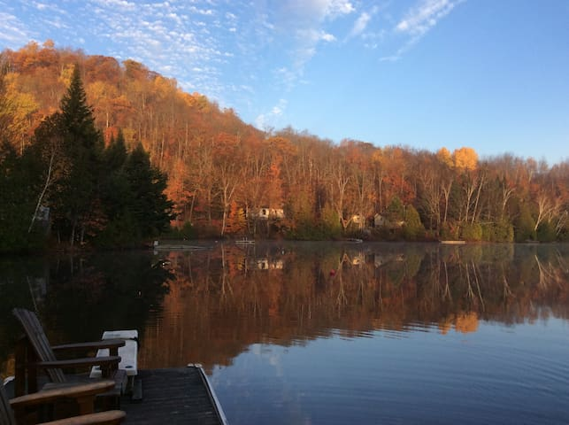 View from the dock: early morning in the fall-dock gets the sun late into the evening