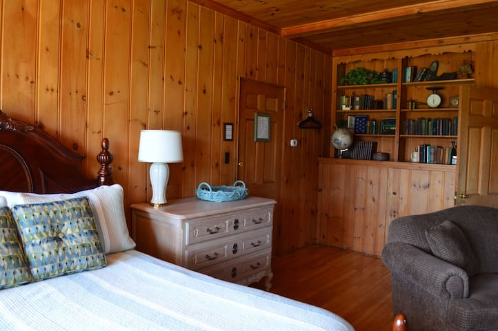 Historic wood paneling and shelves