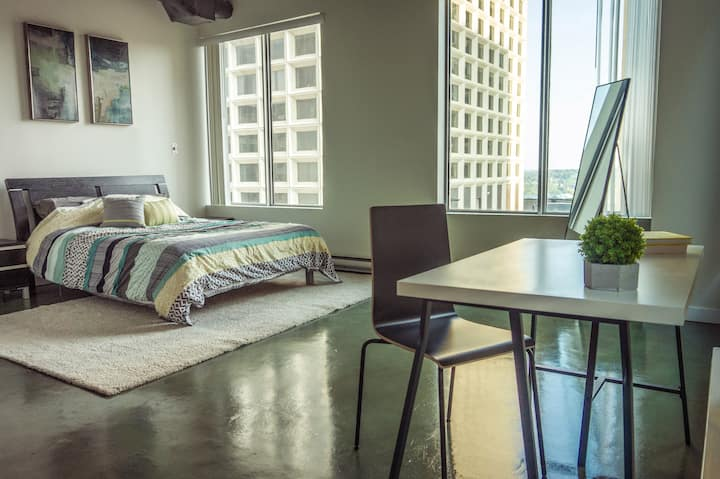 Clean, Central, Open | on Jasper Ave