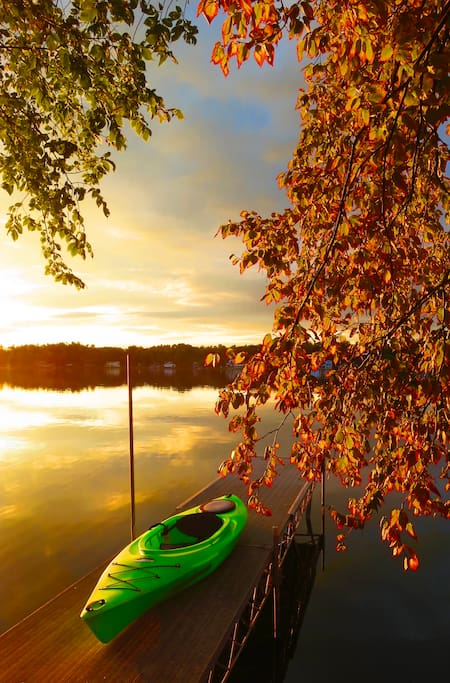 Fall into kayaking!