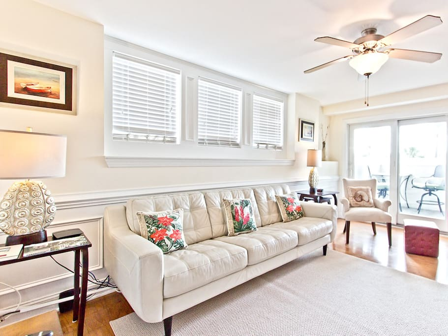 Captains Watch 8 Living Area with private balcony