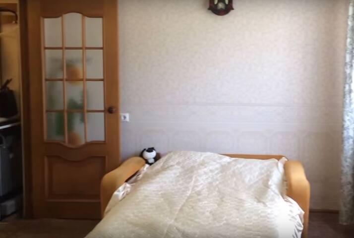 Уютная квартира с одним диваном