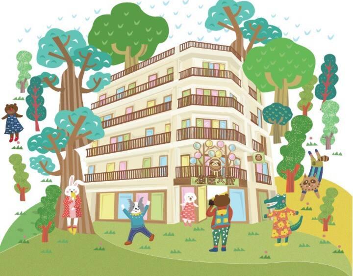 《全新合法旅店》台南市安平區☆樹屋文旅☆經典雙人房型