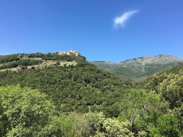 chambre pour amoureux de montagne, à 9km de Corté - Santa Lucia Di Mercurio  - House