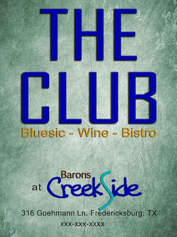 We have an on-site venue at Barons CreekSide. Open Thu/Fri/Sat 5pm-11pm with great live music most evenings