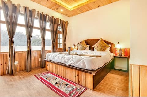 Premium wooden rooms with private balcony