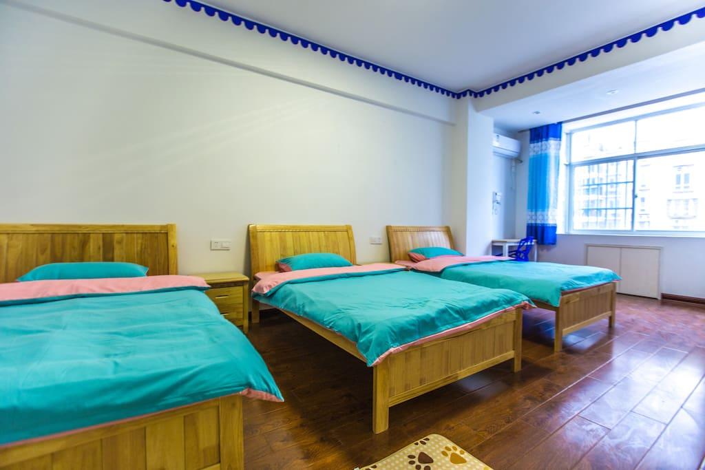 三床房 1.2米三张床