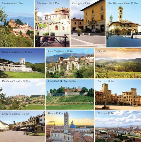 The area is dotted with medieval towns, wineries, castles and amazing countryside. (1 km = 0,6 miles)