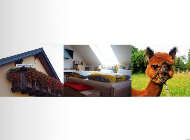Urlaub mit Alpakas (mit Balkon) - Tauche - Apartemen