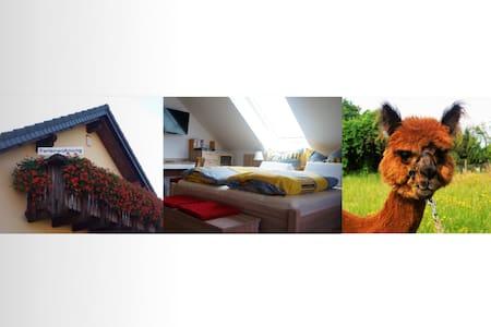 Urlaub mit Alpakas (mit Balkon) - Tauche - Appartement