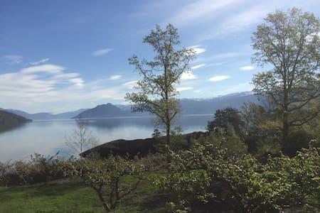 Hardanger Fjord, sunny and fishing - Kvam