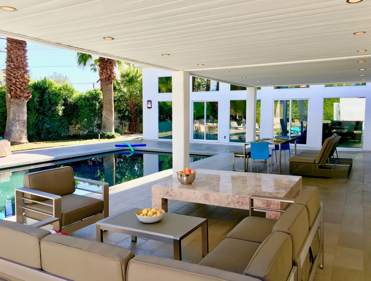 Relax with comfort and style in this indoor-outdoor paradise