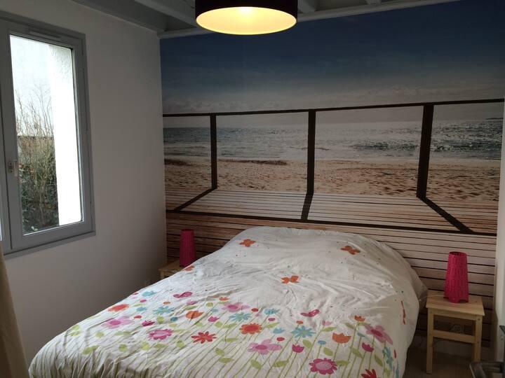 Chambre Zen - proche mer, visitez la Normandie!