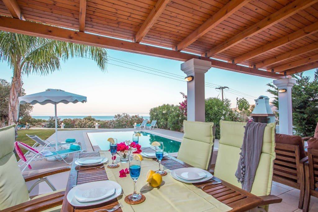 Luxury Villa Elia with Private Pool & Sea Views near Lindos