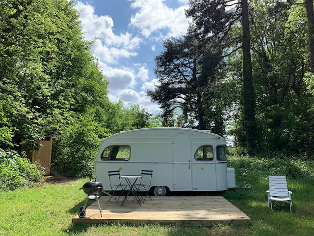 Caravane vintage 2 pers. Manoir de Bois-en-Ardres