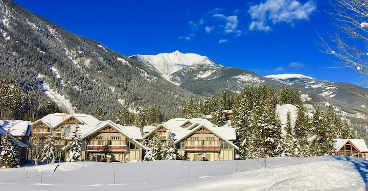SKI-IN/OUT 2BR-Private Hot Tub & Greywolf VIEWS