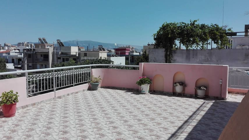 Sunny,cute,little apartment with lovely balcony - Acharnes - Lejlighed