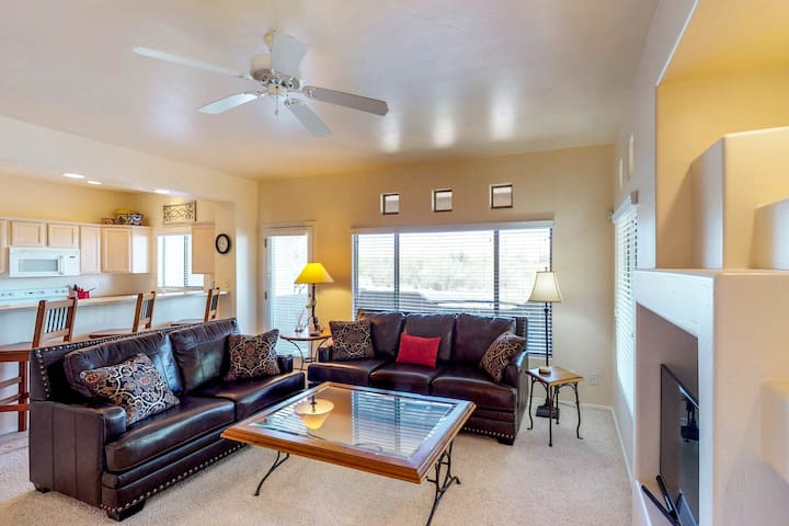 Spacious & dog-friendly condo with shared pool and hot tub!
