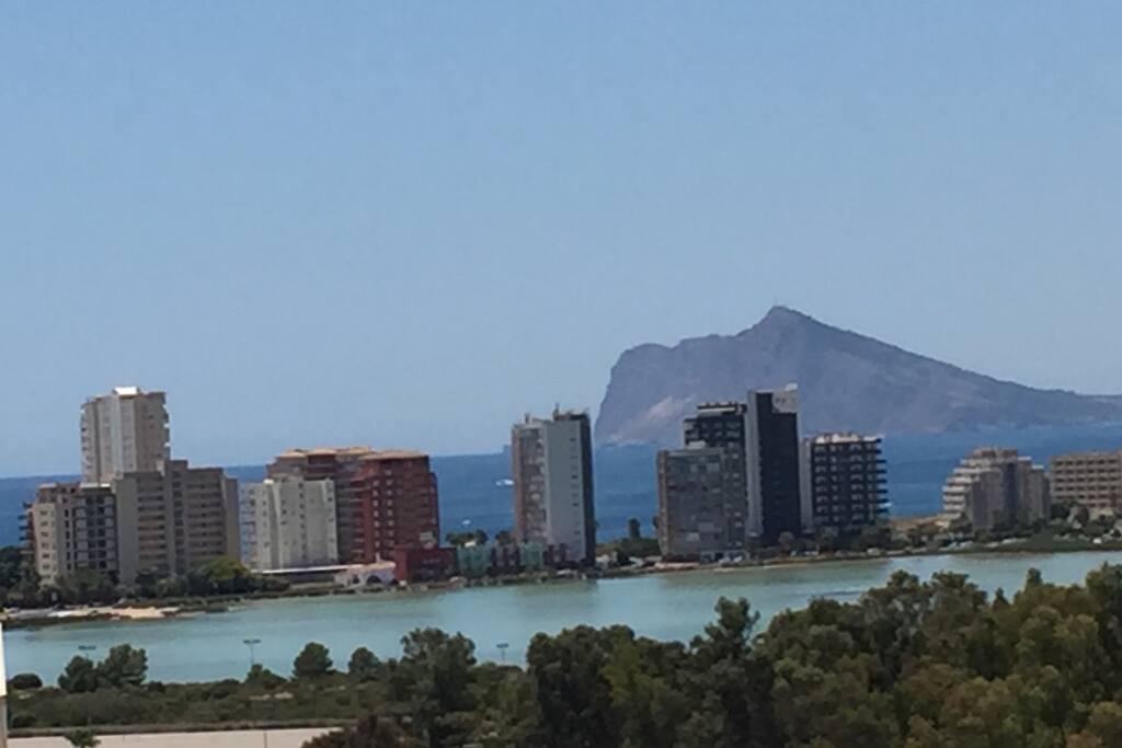 Vista a la Salina del balcón