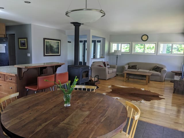 Dining and Living area with lots of room for relaxing and entertainment