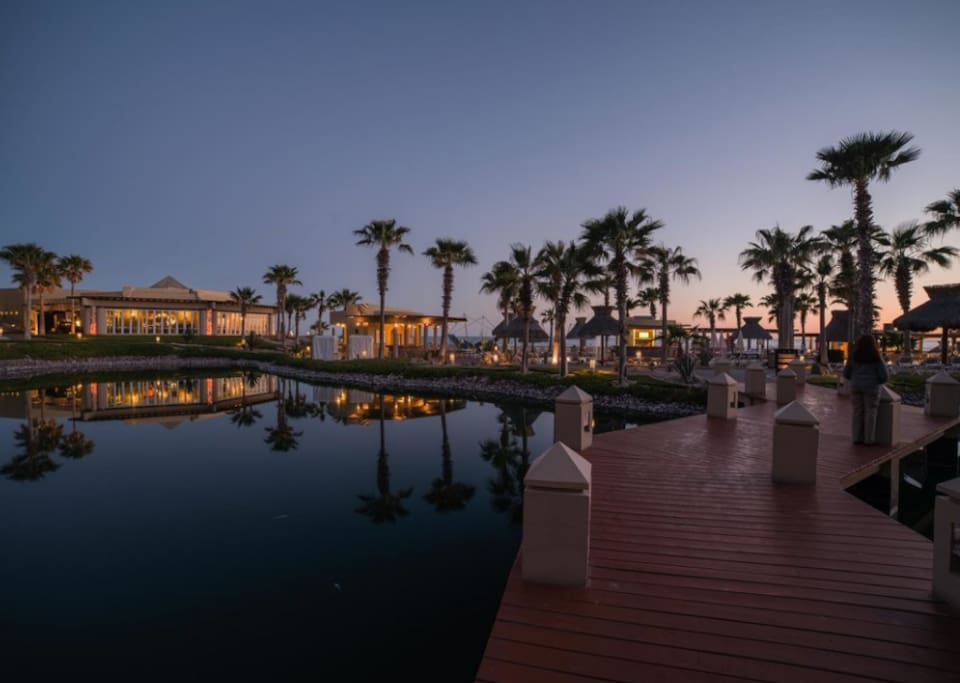 The resort at dusk.