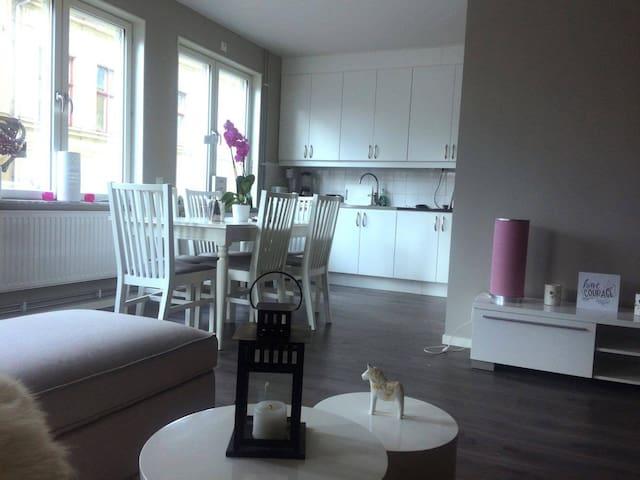 Nybyggd lägenhet mitt i centrala Falun.
