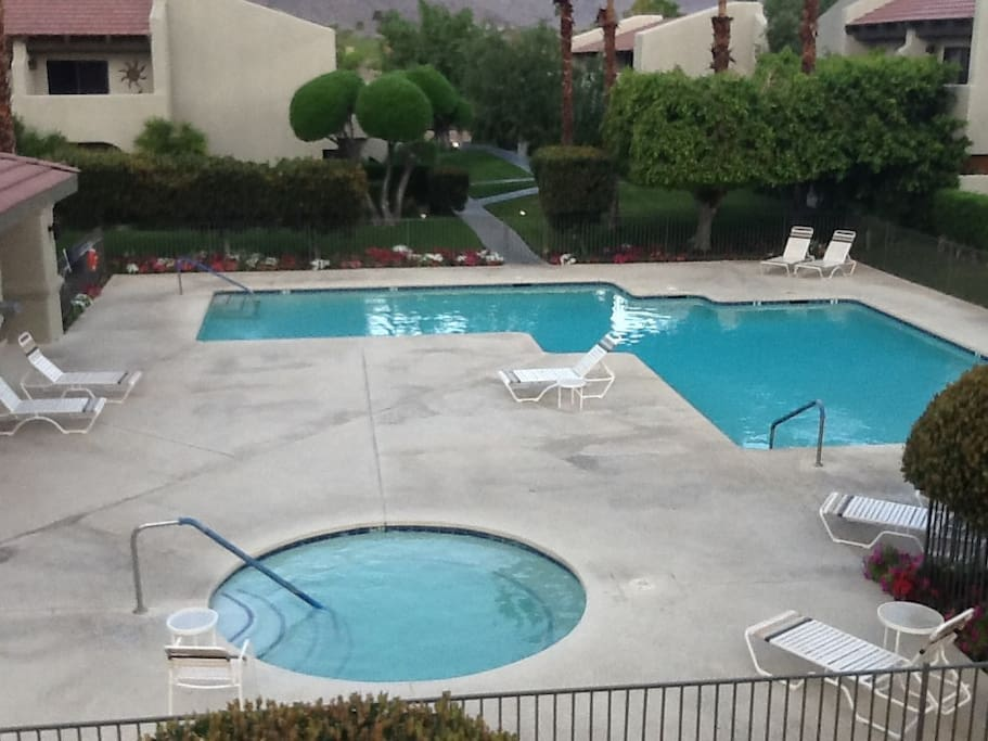 One of two heated pools and spas