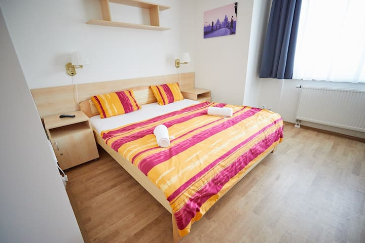 Studio for two persons with double bed