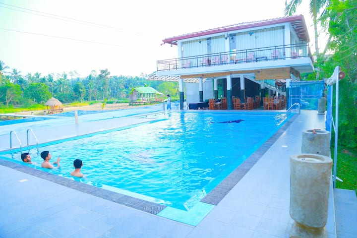we have swimming pool,room apprtmnts.kichen & ETC,