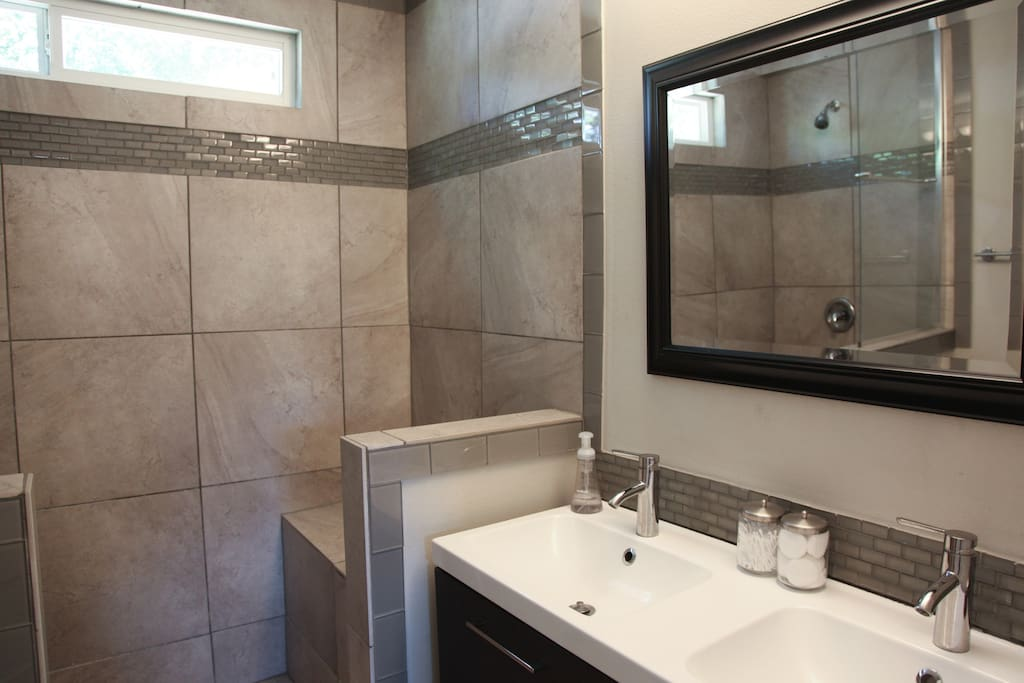 Private bathroom with large shower