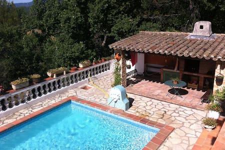 Villa Provençale avec piscine 8 p - Bras - Huis