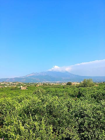 Delightful studio with a view of Mt. Etna