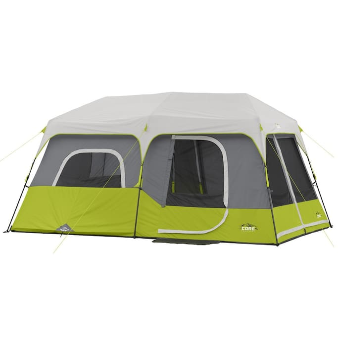 This is your tent, sleeps 9, or you can have it as a Cabin for two.