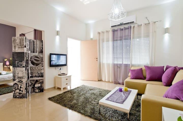 Central Spacious Modern 2-Room Apt