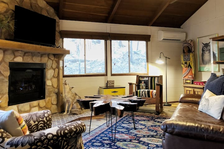 * Eclectic Cabin * WiFi, Hot Tub & Grill: Sleeps 4