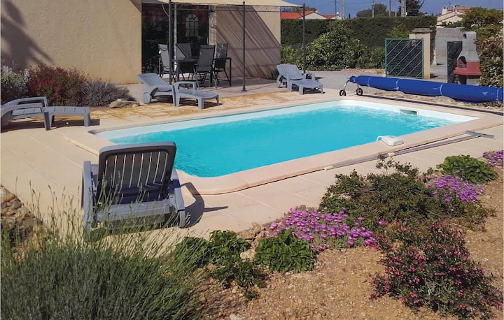 Nice home in Argeliers with Outdoor swimming pool, Outdoor swimming pool and 3 Bedrooms