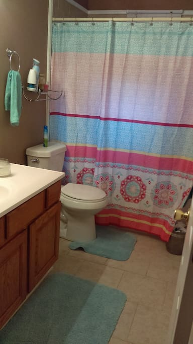 One of 2 baths