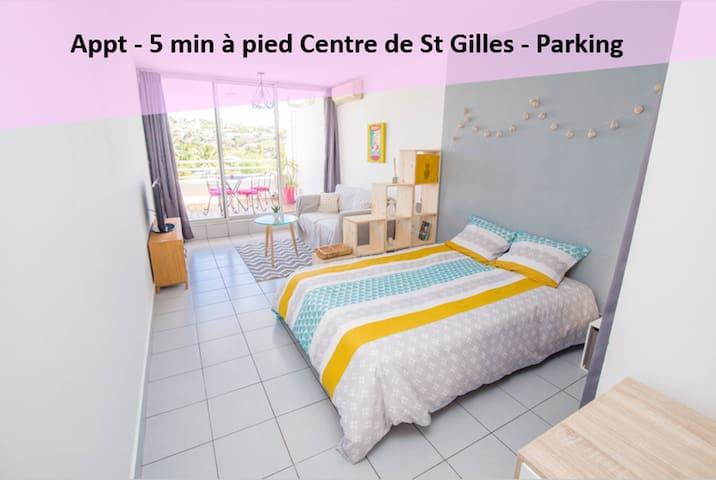 Appt 37m² 5 min à pied Centre St Gilles les Bains