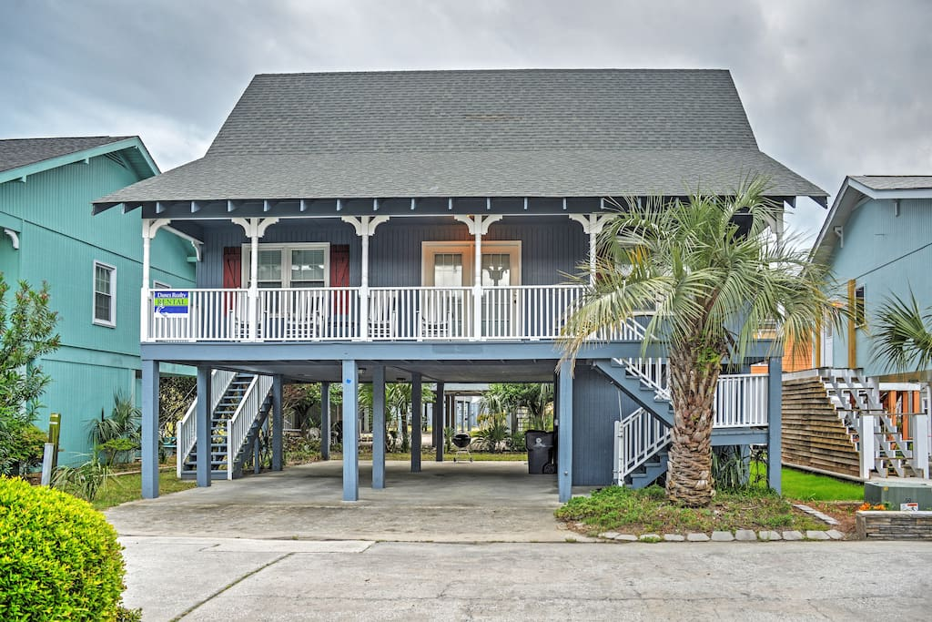 Up to 10 lucky guests can sleep in this charming beach abode!