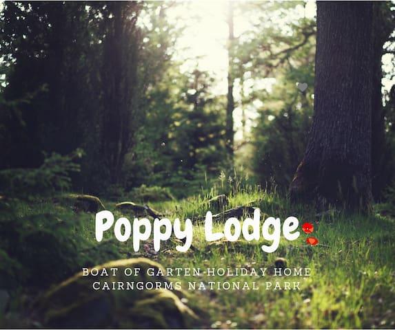 Poppy Lodge, Boat of Garten Holiday Park.