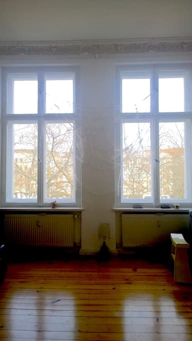 Big windows in the living room