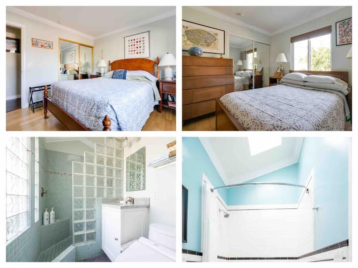 HB Master Suite & Cozy Rm + breakfast 5 min to bch