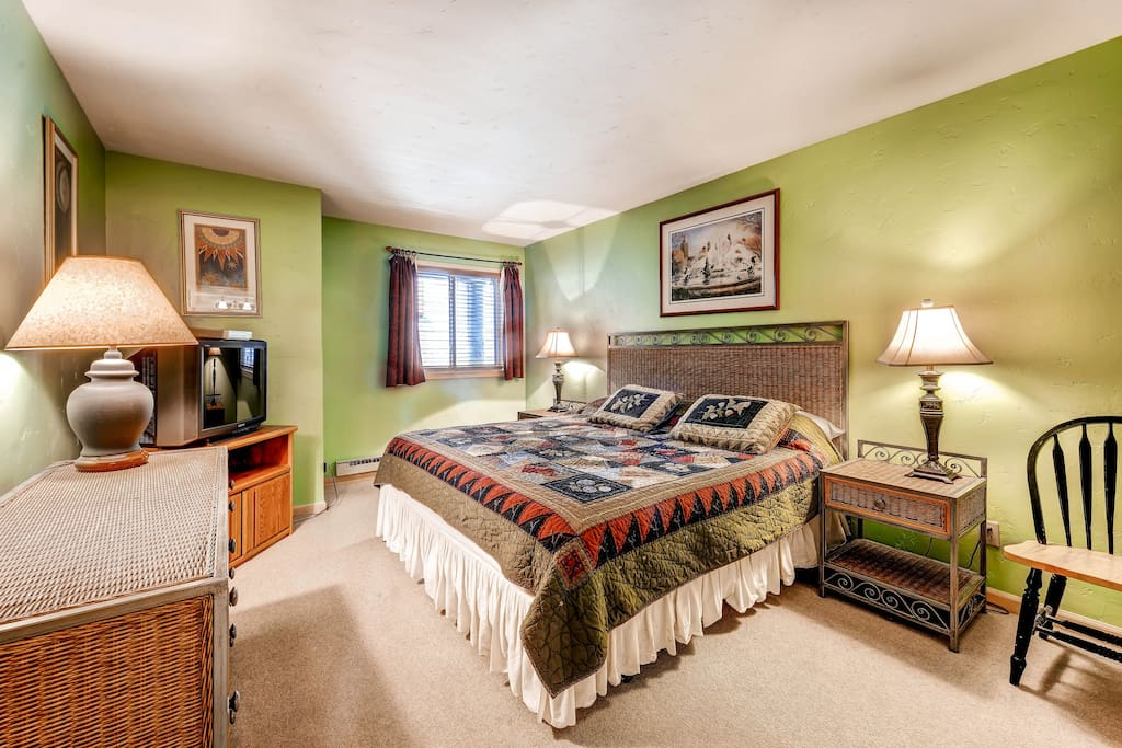 Huge master bedroom with king bed