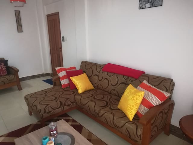Guestroom in 2-bedroom apartment; shared with host