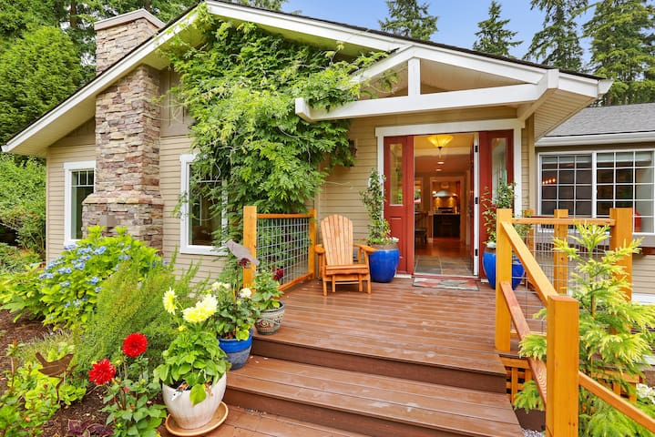 Private Woodinville District Craftsman on 1 Acre!